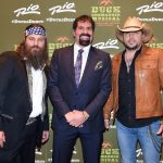 Willie Robertson, Bill Busbice, and Jason Aldean at the Rio in Las Vegas